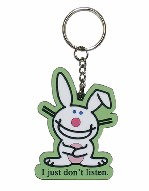 Happy Bunny Key Chain (Green)